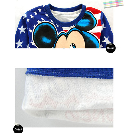 Boys Blue Mickey Stars Long Sleeve T Shirt 2 8 yrs 6042
